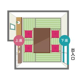 床の間・床脇棚ありの和室1