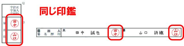 捨印と署名押印欄の例