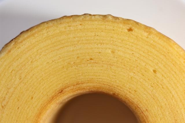 バームクーヘンの年輪イメージ