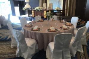 結婚式の席
