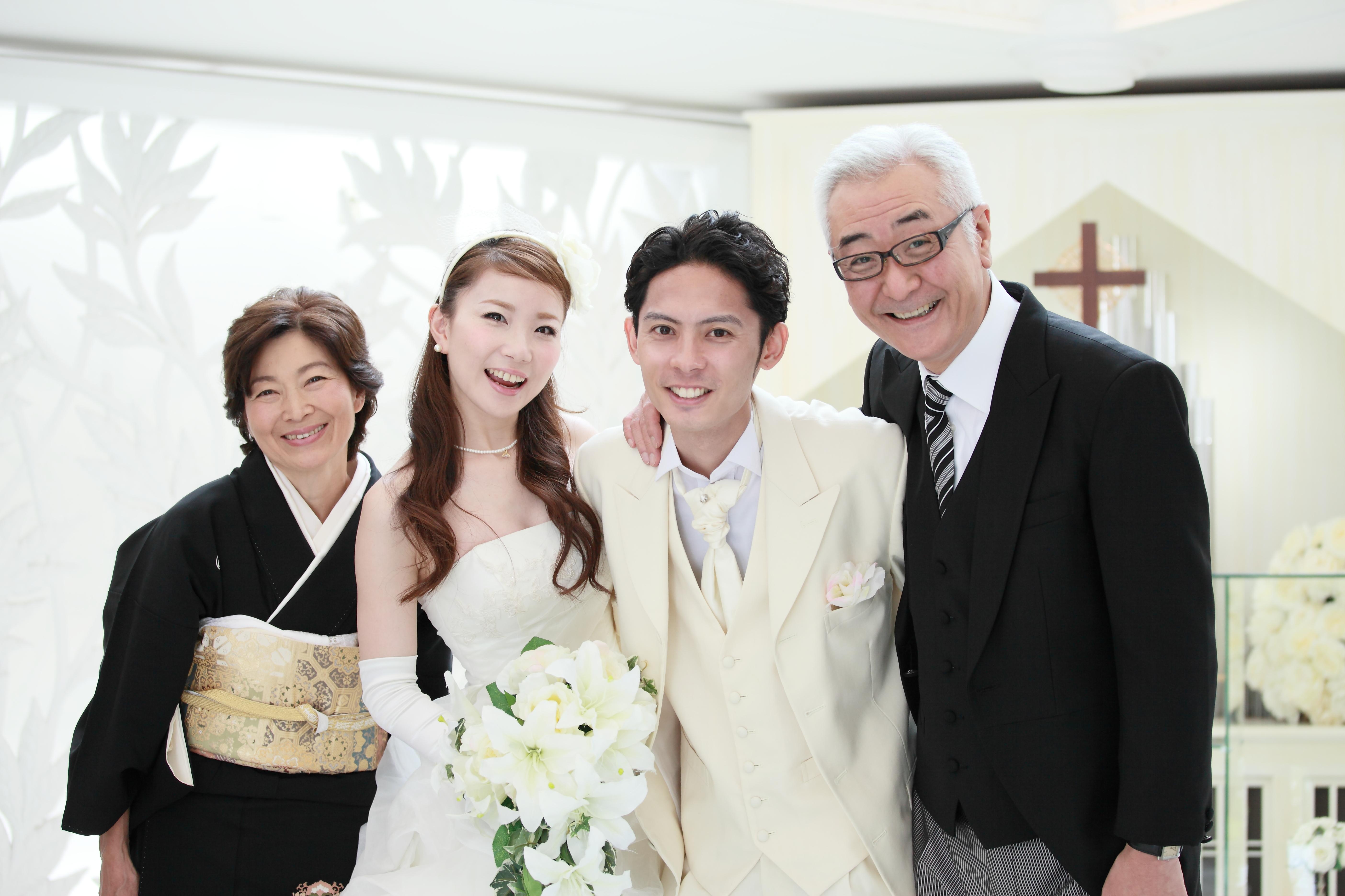 新郎新婦と両親