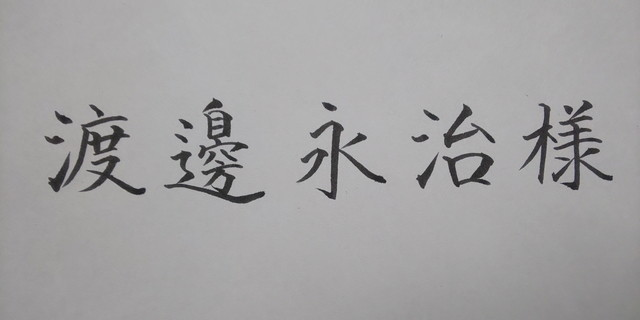 ゼブラ<筆サイン>の細字の宛名書き