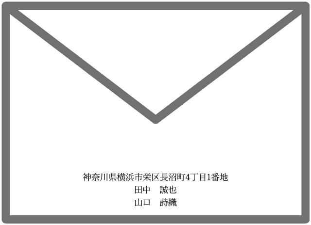 招待状の差出人・新郎新婦(未入籍・同居)
