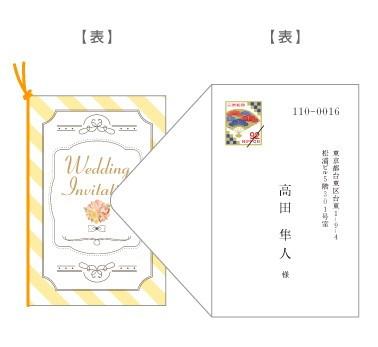 招待状の封入(縦デザイン・封筒縦)/郵送