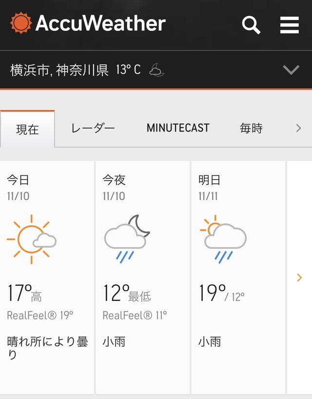 天気用法がチェックできます。