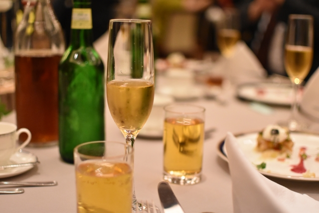 シャンパンとビール