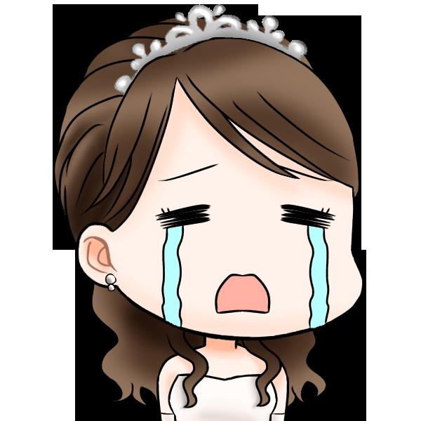 泣いている花嫁のウィンちゃん
