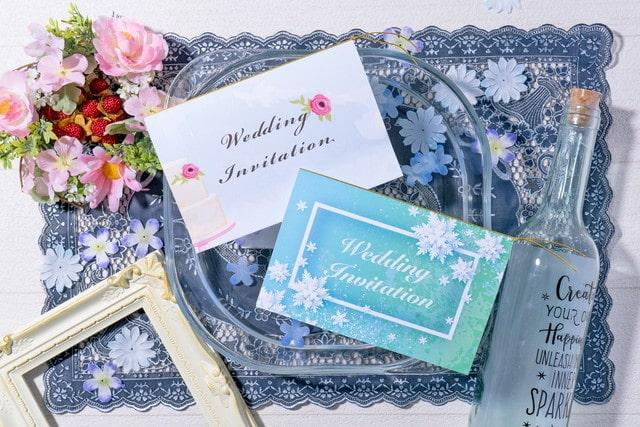冬がテーマの結婚式招待状