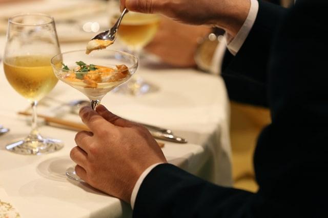 披露宴のコース料理
