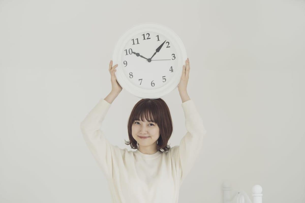 午前を指す時計