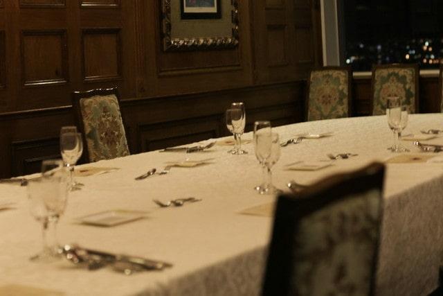 高級レストランの個室