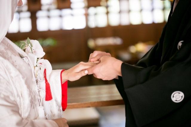 結婚式の指輪交換