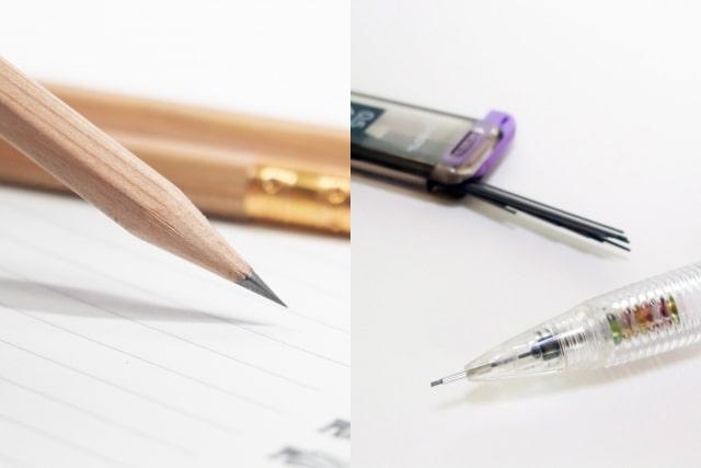 鉛筆とシャープペンシル