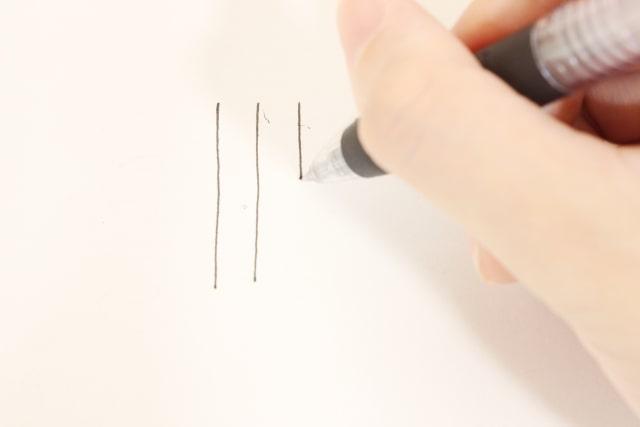 黒のボールペン