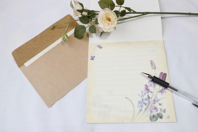 花柄の便箋