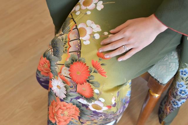 着物と指輪