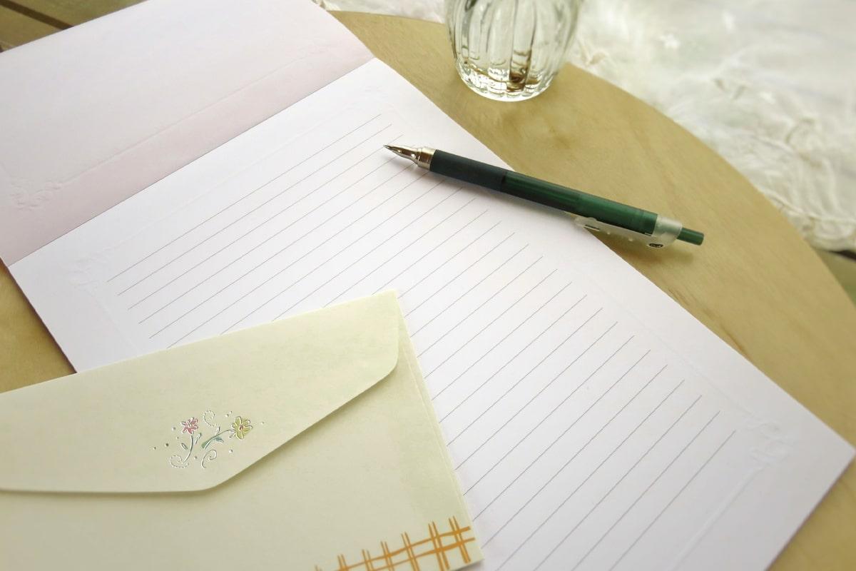 お礼状の便箋と封筒