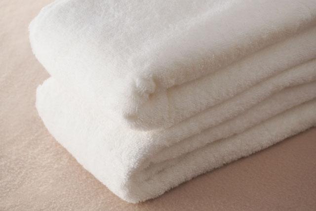 真っ白のバスタオル