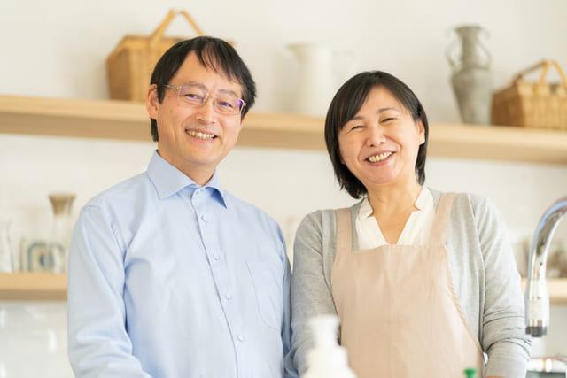 笑顔の両親