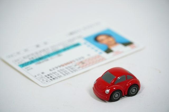 運転免許証とミニカー
