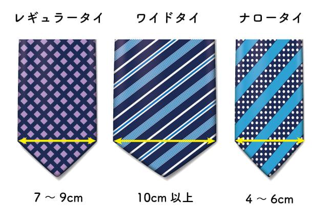 ネクタイの形