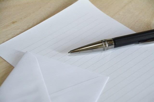 お礼状と万年筆