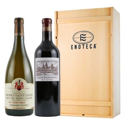 シャトー・コス・デストゥルネル&ドメーヌ・ポンソ「フランス産紅白ワインギフトセット(ボルドー&ブルゴーニュ) 」
