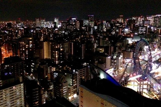 夜の東京都文京区