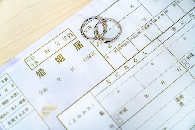 婚姻届とマリッジリング