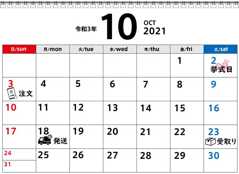 挙式後の引き出物注文カレンダー