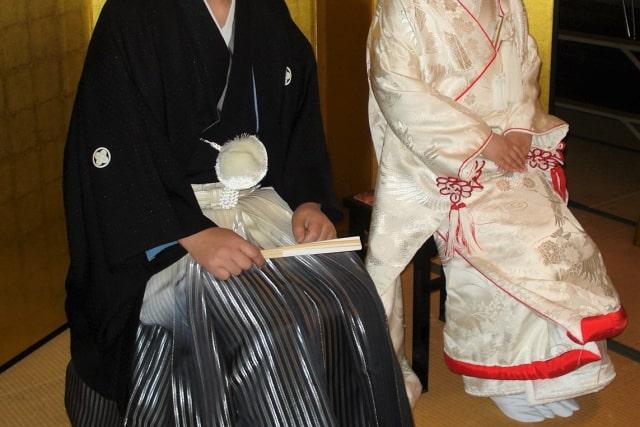 昔の結婚式の写真