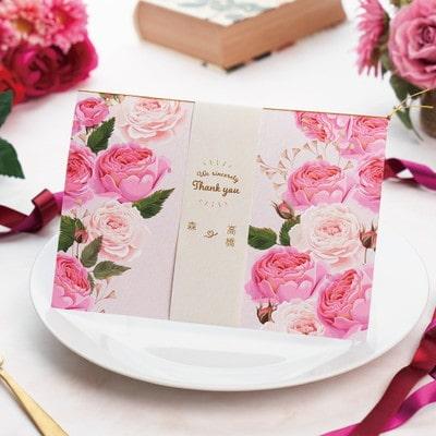結婚報告レター付きギフト「Rose warm」