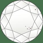 ダイヤモンドのクラリティ評価「VS2」