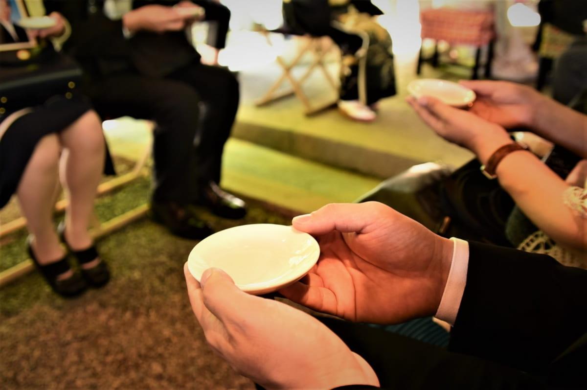 人前式の親族杯の儀