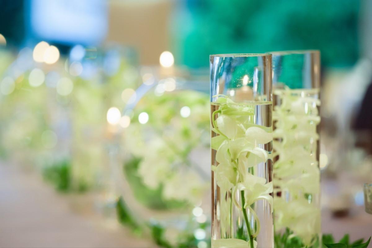 披露宴のテーブル装飾