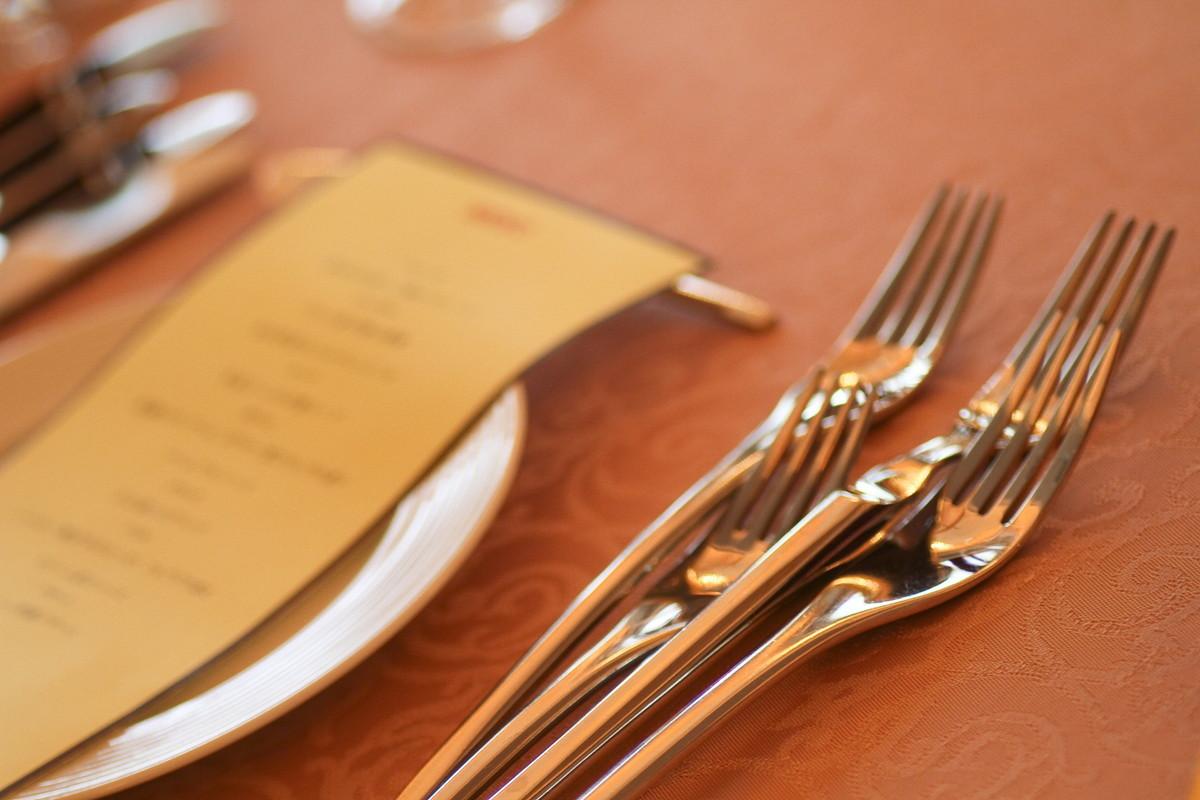 披露宴の料理メニュー表