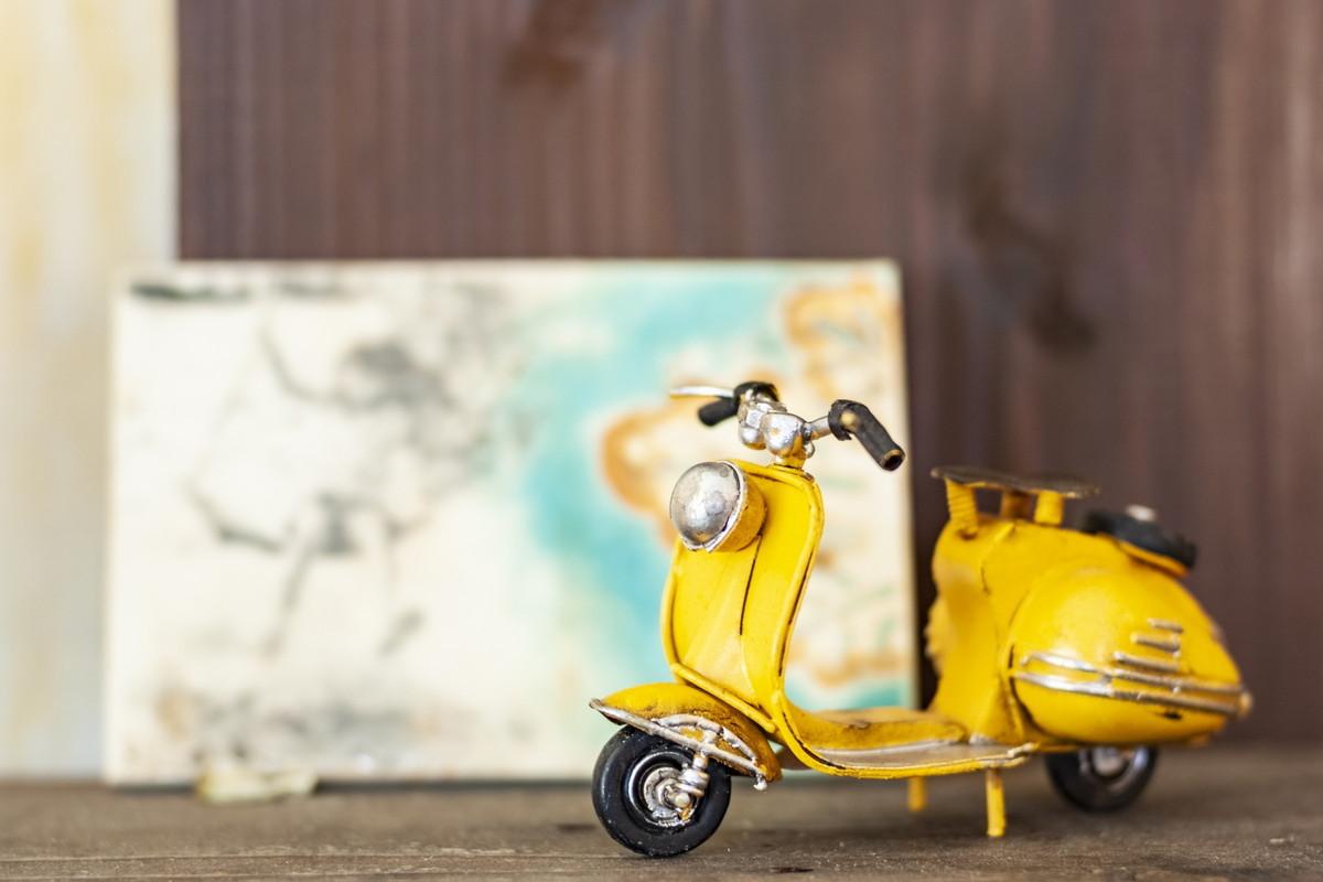 地図とバイク