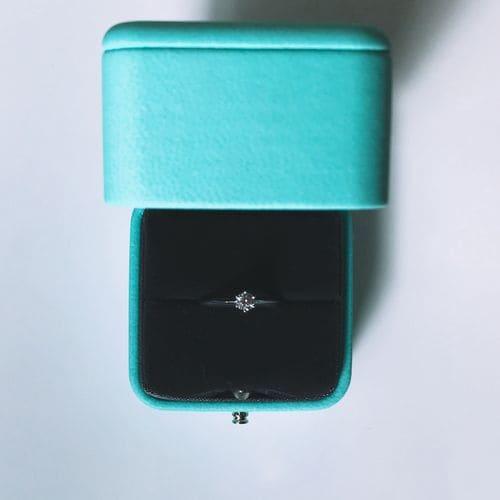 Chikaさんの婚約指輪(ティファニー)