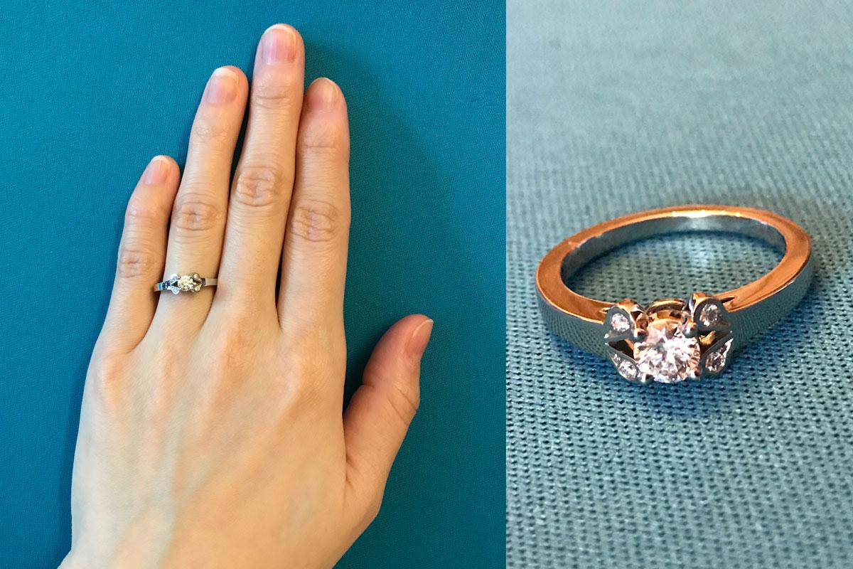 kmさんの婚約指輪と結婚指輪の口コミ