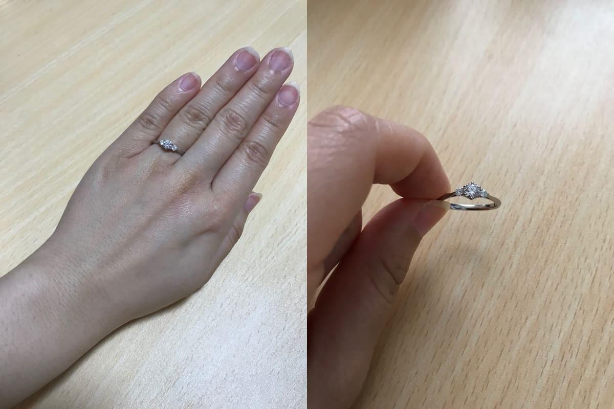 かなさんの婚約指輪と結婚指輪の口コミ