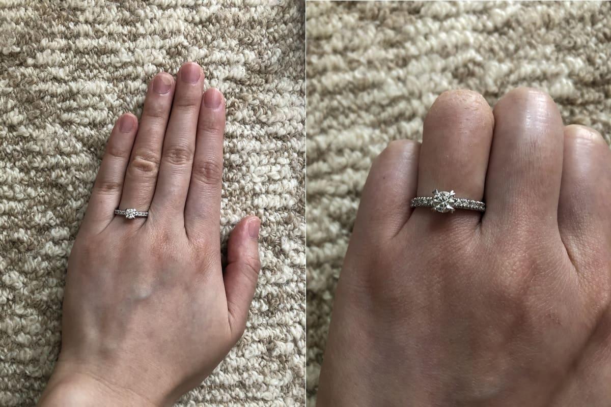 まみやんこさんの婚約指輪と結婚指輪の口コミ