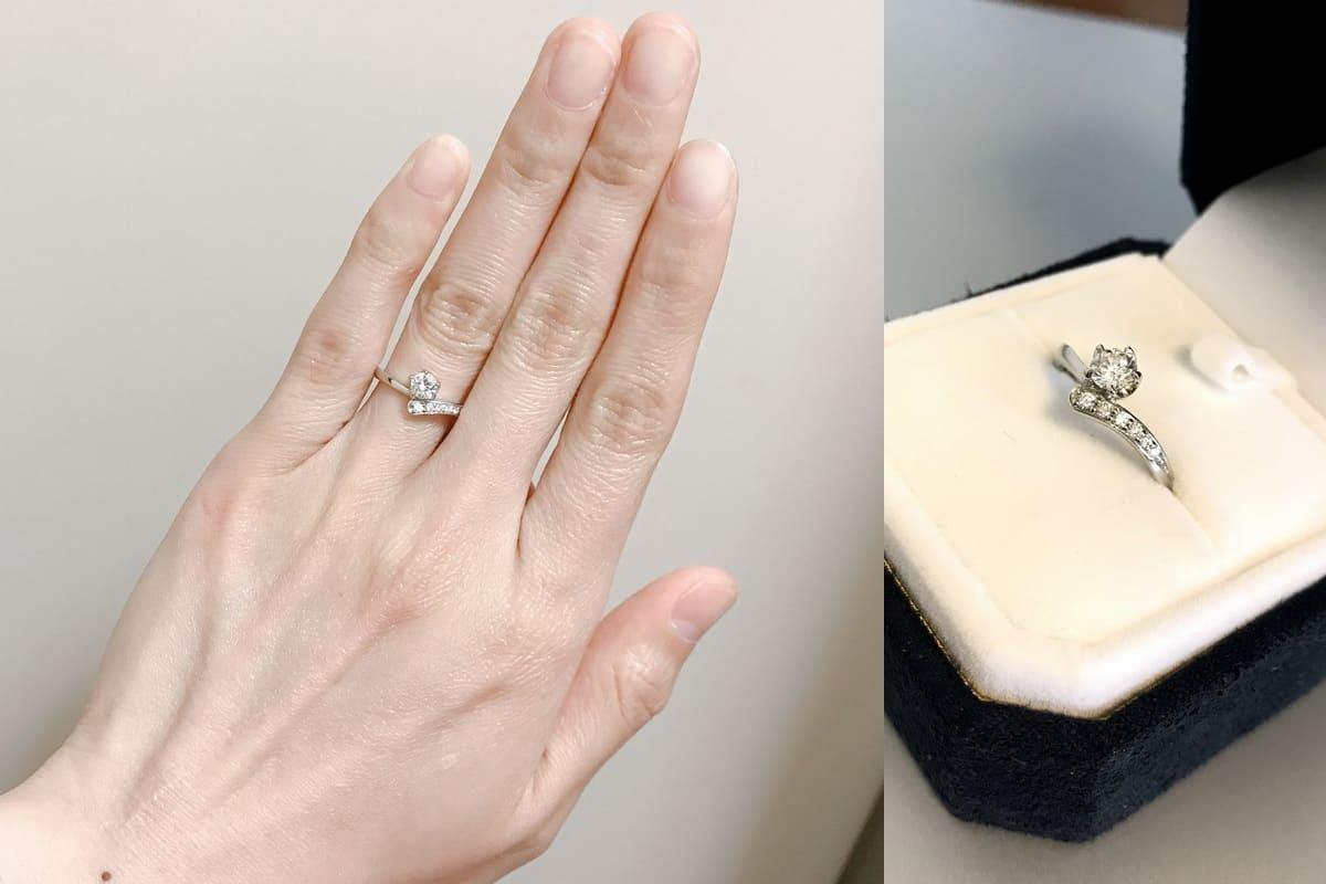 ふくながさんの婚約指輪と結婚指輪の口コミ