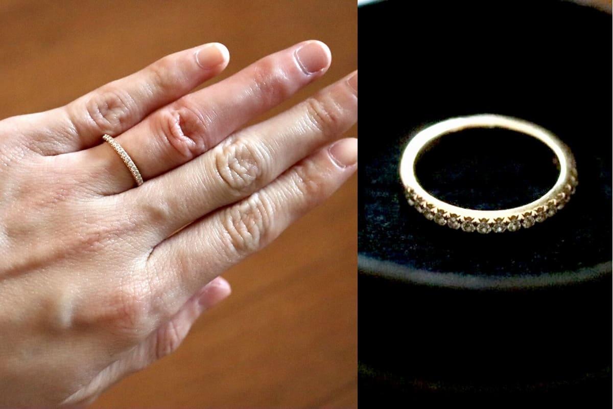 はなさんの婚約指輪(ティファニー)と結婚指輪(himie)の口コミ