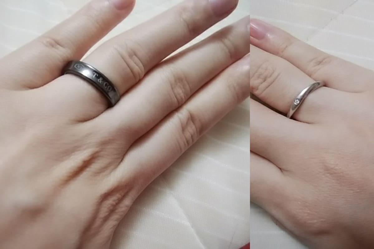 koenko33さんの婚約指輪(4℃)と結婚指輪(ティファニー)の口コミ