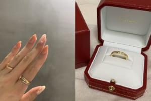 sato28さんの結婚指輪(カルティエ)と婚約指輪(ハリーウィンストン)の口コミ