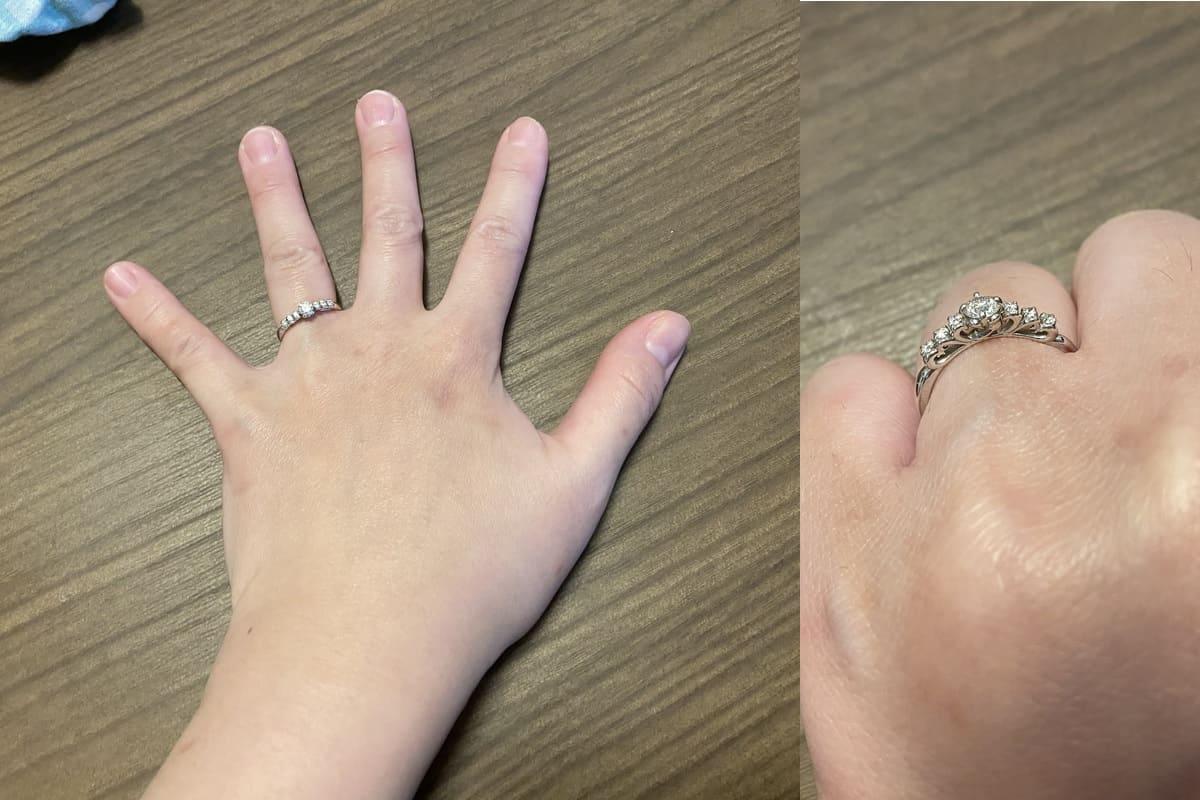 もももかさんの結婚指輪と婚約指輪の口コミ