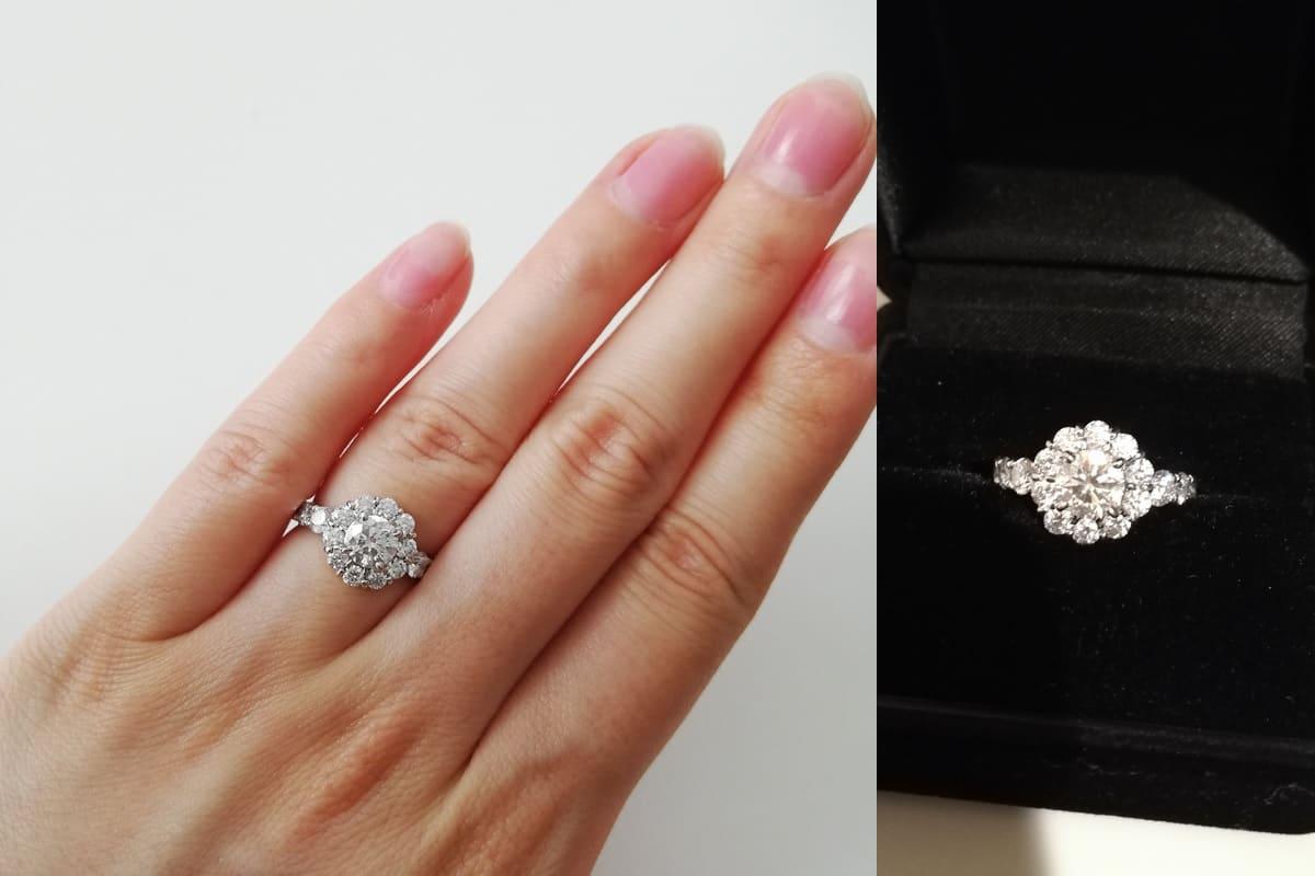 Juriさんの結婚指輪(ブシュロン)と婚約指輪(ガラ)の口コミ