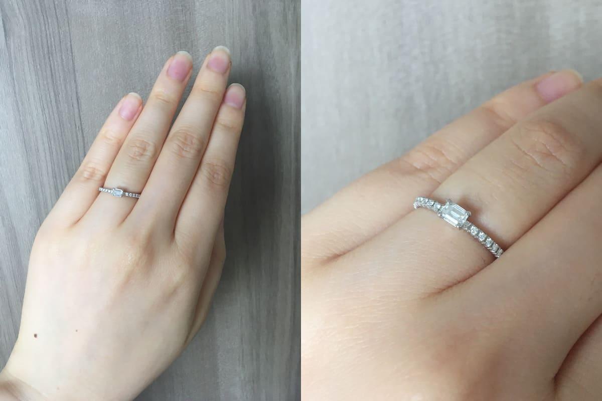 フクコさんの結婚指輪(カルティエ)と婚約指輪(カルティエ)の口コミ