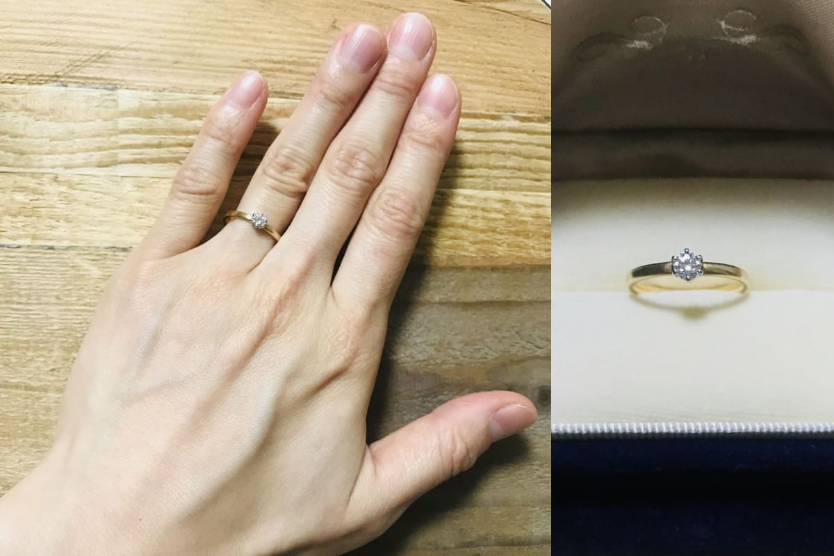 kanaさんの結婚指輪(ith)と婚約指輪(agete)の口コミ