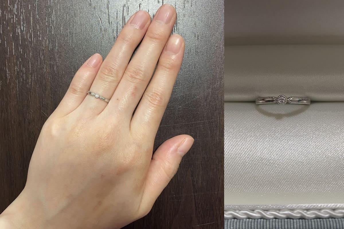 ちゃむさんの結婚指輪と婚約指輪 ete(エテ) の口コミ